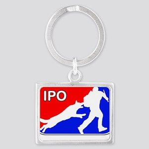 IPO Red White and Blue Keychains